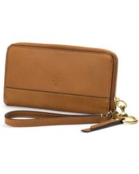 Frye - Ilana Harness Leather Phone Wristlet - Lyst