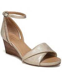 Franco Sarto - Deirdra Metallic Shimmer Wedge Sandals - Lyst