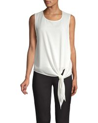 Vince Camuto - Front Tie Soft Texture Blouse - Lyst
