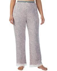 Kensie - Plus Printed Straight-leg Pyjama Trousers - Lyst