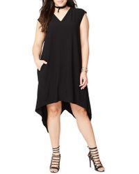 RACHEL Rachel Roy - Plus Plus Sydney Hi-low Sleeveless Shift Dress - Lyst