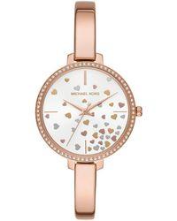 Michael Kors - Jaryn Three-hand Rose Goldtone Stainless Steel Watch - Lyst