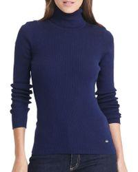 Lauren by Ralph Lauren - Ribbed Turtleneck Sweater - Lyst