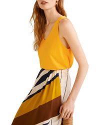 Mango - Sleeveless Textured Top - Lyst