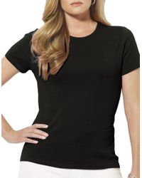 Lauren by Ralph Lauren - Plus Plus Size Monogram Cotton T-shirt - Lyst
