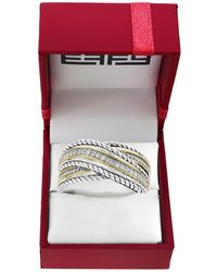 Effy - Diamond And Sterling Silver Wrap Ring - Lyst