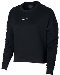 Nike - Women's Dry Training Cropped Sweatshirt - Lyst