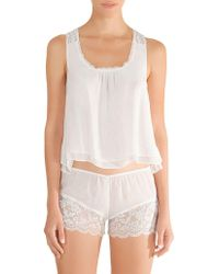 In Bloom - Blue Belle Lace-trimmed Camisole And Shorts - Lyst