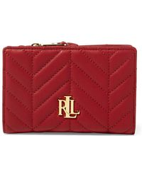 Lauren by Ralph Lauren - Quilted Leather Wallet - Lyst