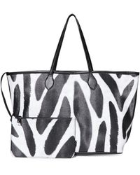 Steve Madden - Patterned East-west Tote With Zip Pouch - Lyst
