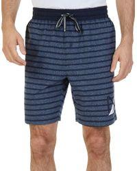 Nautica - Striped Pajama Shorts - Lyst