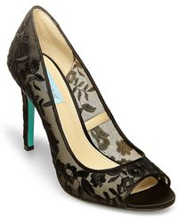 Betsey Johnson - Blue By Riddle Peep Toe Court Shoes - Lyst