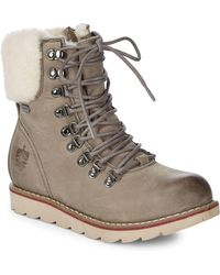 Royal Canadian - Lethbridge Faux Fur-lined Leather Winter Boots - Lyst