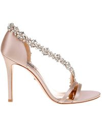 Badgley Mischka - Violetta Embellished Satin Court Shoes - Lyst