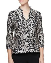 Alex Evenings - Embroidered High-low Jacket - Lyst