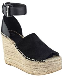 Marc Fisher - Adalyne Leather Espadrille Wedge Sandal - Lyst