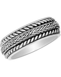 Lord & Taylor - 925 Sterling Silver Eternity Band Ring - Lyst