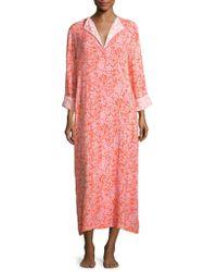 Oscar de la Renta - Floral Patterned Long Sleep Gown - Lyst