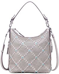 Chinese Laundry - Ayo Perforated And Studded Hobo - Lyst