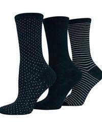 Hot Sox - Printed Three Pack Trouser Socks - Lyst