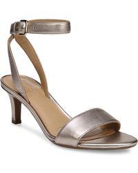 Naturalizer - Tinda Metallic Leather Sandals - Lyst