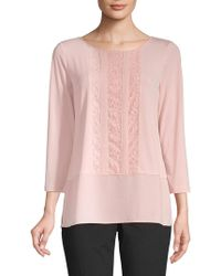 Ivanka Trump - Lace-front Top - Lyst