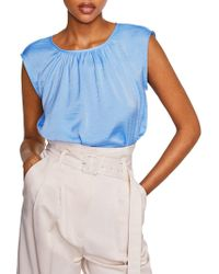 Mango - Molly Ruched Neck Blouse - Lyst