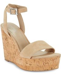 Charles David - Libra Suede Wedge Sandals - Lyst