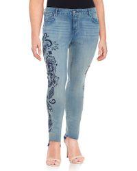 William Rast - Plus Ripped Distressed Jeans - Lyst
