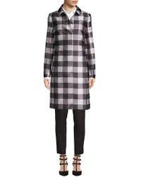 Anne Klein - Checkered Button Jacket - Lyst