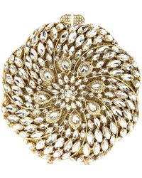 Natasha Couture - Crystal Studded Spiral Clutch - Lyst