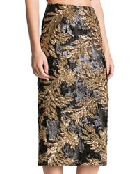 Dress the Population - Sasha Two-toned Sequin Midi Skirt - Lyst