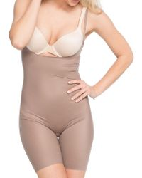 Spanx - Plus Mid-thigh Bodysuit Shaper - Lyst