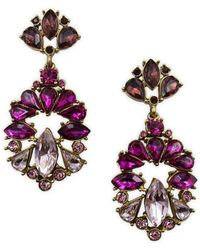 Belle By Badgley Mischka - Pink Ombre Stone Cluster Drop Earrings - Lyst