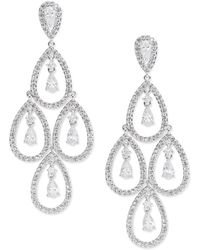 Nadri - Cubic Zirconia Chandelier Drop Earrings - Lyst