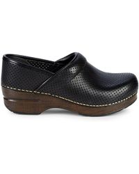 Dansko - Perforated Leather Clogs - Lyst