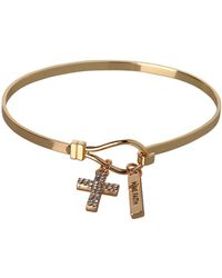 BCBGeneration - Basic Have Faith & Cross Charm Bracelet - Lyst