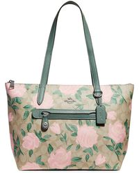 COACH - Signature Canvas Taylor Tote - Lyst
