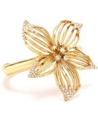 Oscar de la Renta - Swarovski Crystal Point Flower Bracelet - Lyst