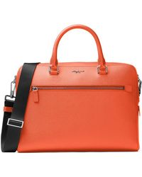 Michael Kors - Harrison Leather Briefcase - Lyst