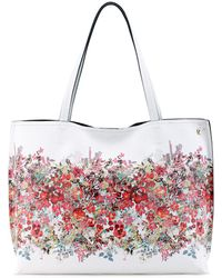 Elliott Lucca - Floral Printed Reversible Faux Leather Tote - Lyst