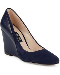 Nine West - Daday Leather And Suede Wedges - Lyst