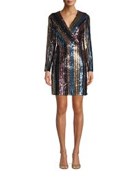 Sam Edelman - Striped Sequin Dress - Lyst