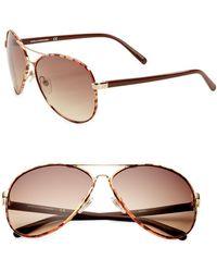Diane von Furstenberg - Sental 62mm Aviator Sunglasses - Lyst