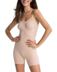 Spanx | Oncore Mid-thigh Bodysuit | Lyst