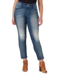 Jessica Simpson Plus Arrow Wide-cuff Straight-fit Jeans