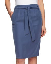 1.STATE - Front-tie Pencil Skirt - Lyst