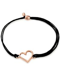 ALEX AND ANI - Valentines Day Sterling Silver Heart Pull Cord Bracelet - Lyst