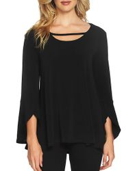 Chaus - Cutout Tulip Sleeve Top - Lyst