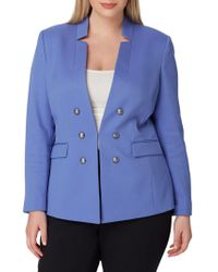 Tahari - Faux Double-breasted Jacket - Lyst